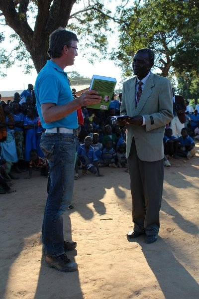 In May 2012 Mr. Jan Jacob Hoefnagel, on behalf of World Servants, handed over copies of the Germany-published third edition of the Chichewa Dictionary to a Primary School at Luwerezi, Kasungu District.