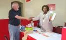 Dictionary reception at Air Malawi by Mrs Tawina Mwasi