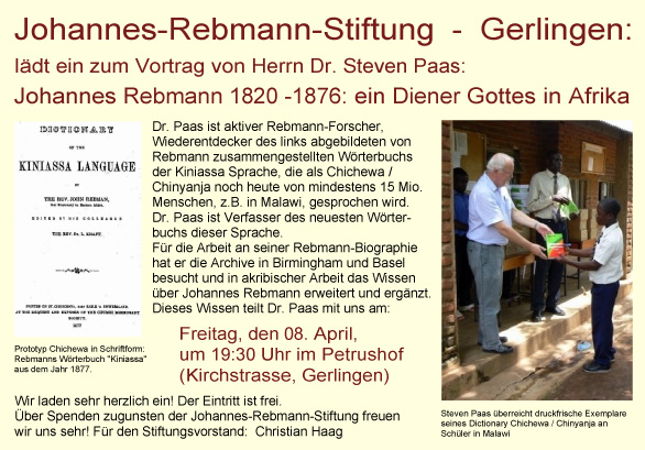 Talk at Johannes Rebmann Stiftung