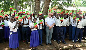 Pupils received dictionaries